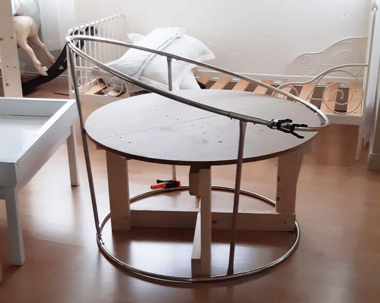 Custom built Spinning Posing Table